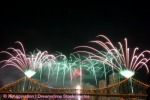 Fireworks with copyspace at the top..