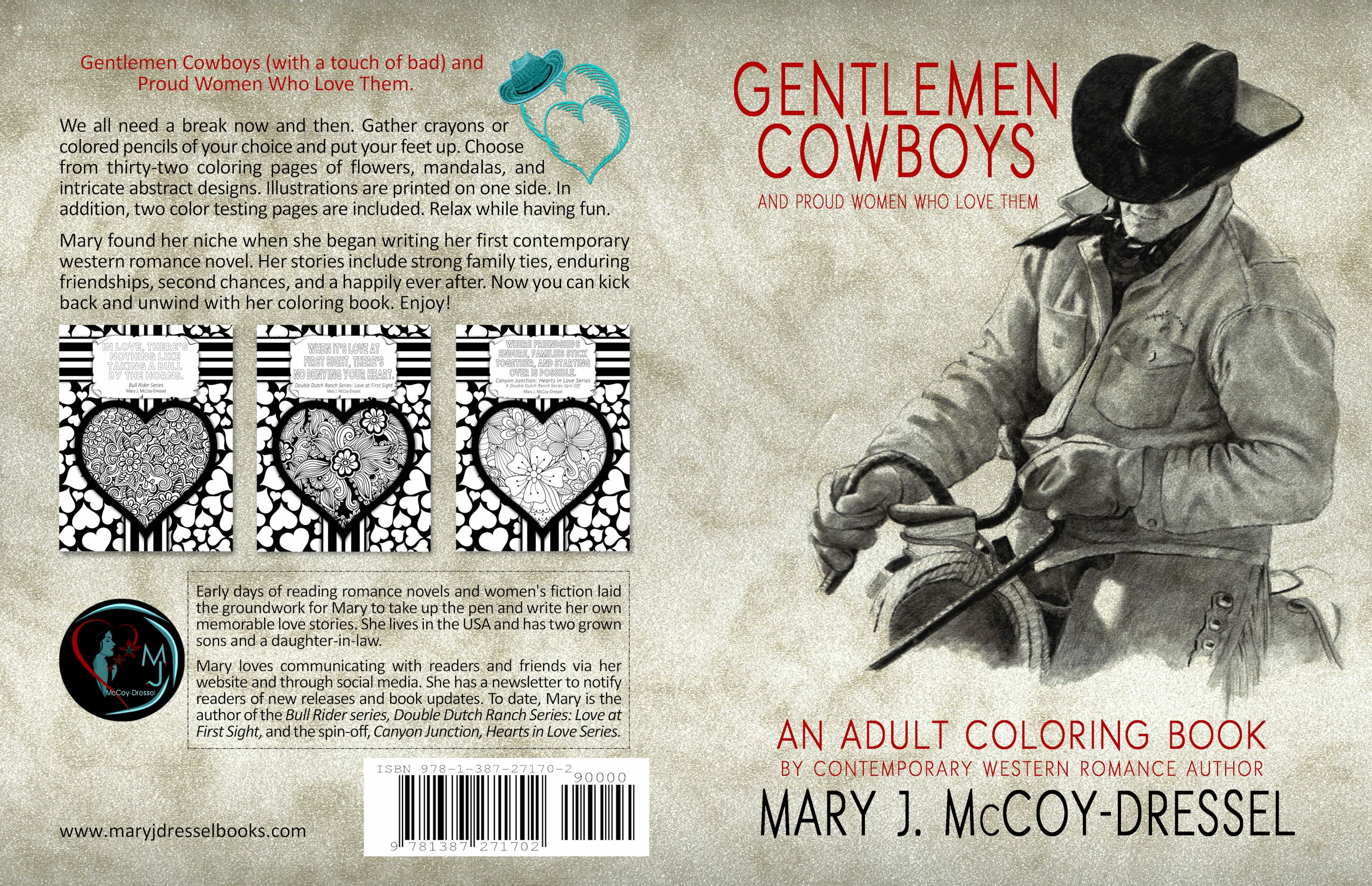 Reveal Gentlemen Cowboys An Adult Coloring Book