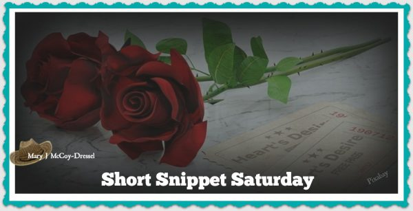 long stem red rose laying on sheet music, Mary J McCoy-Dressel, Western Romance, Blog Post Short Snippet Saturday