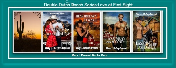 Mary J McCoy-Dressel, Western Romance, Double Dutch Ranch welcome and book page series image