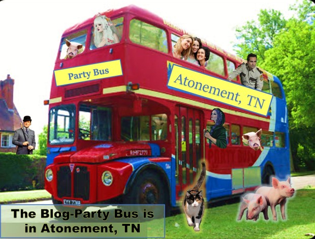 Atonement Blog Party Bus Loaded
