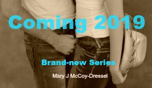 Mary J McCoy-Dressel, website page Works in Progress, cropped couple image for upcoming new book, western romance
