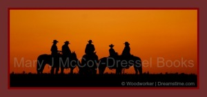 Mary J McCoy-Dressel, western romance, Book page on website, five siblings upcoming novel series