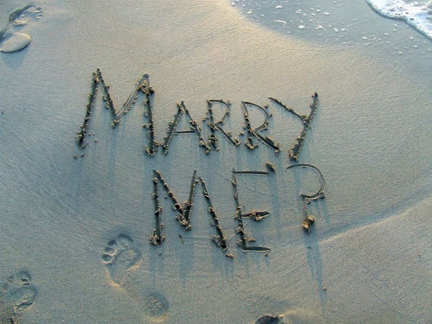 Mary J McCoy-Dressel, Seasoned Romance Blog, writing in the sand Marry Me?